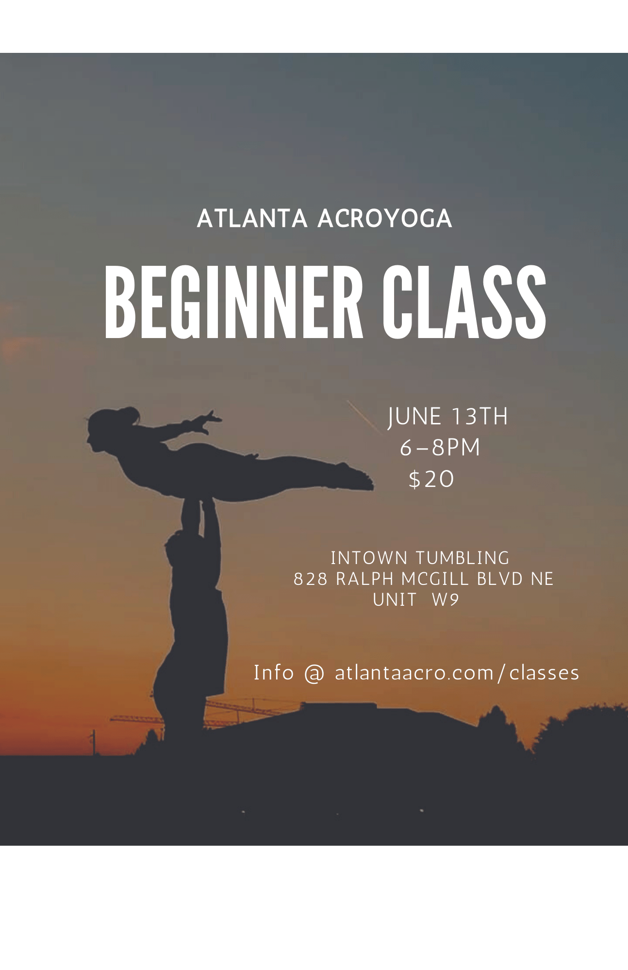 Beginner Acro with Buddy and Tracy flyer